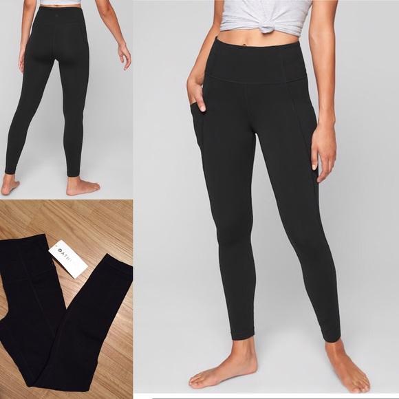 ee2915a146c6b Athleta Pants | Stash Pocket Salutation Tights | Poshmark